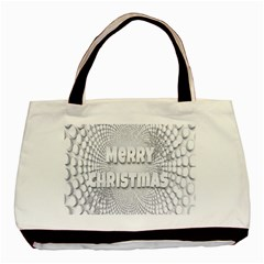 Oints Circle Christmas Merry Basic Tote Bag (Two Sides)