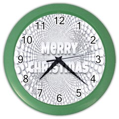 Oints Circle Christmas Merry Color Wall Clocks