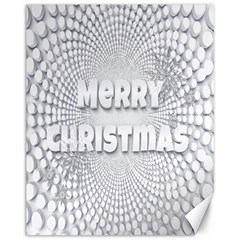 Oints Circle Christmas Merry Canvas 11  x 14