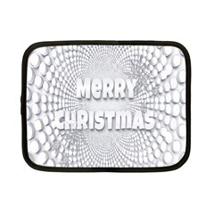 Oints Circle Christmas Merry Netbook Case (small)