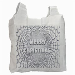 Oints Circle Christmas Merry Recycle Bag (One Side)