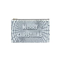 Oints Circle Christmas Merry Cosmetic Bag (small)