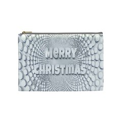 Oints Circle Christmas Merry Cosmetic Bag (Medium)