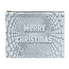 Oints Circle Christmas Merry Cosmetic Bag (xl)