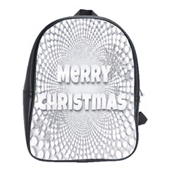 Oints Circle Christmas Merry School Bags(Large)