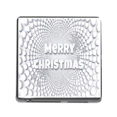 Oints Circle Christmas Merry Memory Card Reader (Square)