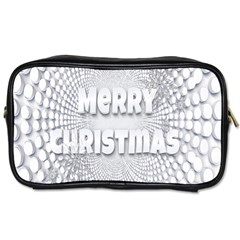 Oints Circle Christmas Merry Toiletries Bags 2 Side