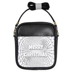 Oints Circle Christmas Merry Girls Sling Bags