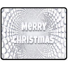 Oints Circle Christmas Merry Fleece Blanket (medium)