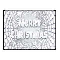 Oints Circle Christmas Merry Fleece Blanket (Small)
