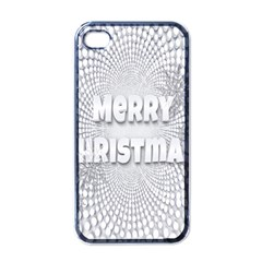Oints Circle Christmas Merry Apple iPhone 4 Case (Black)