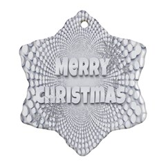 Oints Circle Christmas Merry Ornament (Snowflake)
