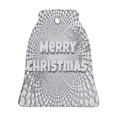Oints Circle Christmas Merry Bell Ornament (Two Sides)