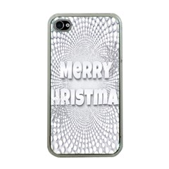 Oints Circle Christmas Merry Apple iPhone 4 Case (Clear)
