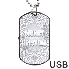 Oints Circle Christmas Merry Dog Tag USB Flash (Two Sides)