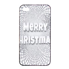 Oints Circle Christmas Merry Apple iPhone 4/4s Seamless Case (Black)