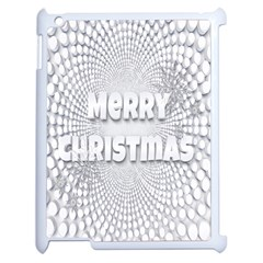 Oints Circle Christmas Merry Apple iPad 2 Case (White)