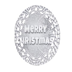 Oints Circle Christmas Merry Oval Filigree Ornament (two Sides)