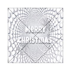 Oints Circle Christmas Merry Acrylic Tangram Puzzle (6  x 6 )