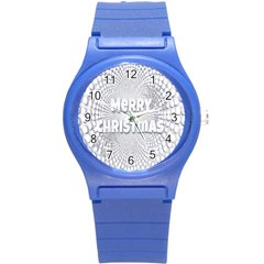 Oints Circle Christmas Merry Round Plastic Sport Watch (s)