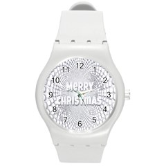 Oints Circle Christmas Merry Round Plastic Sport Watch (m)