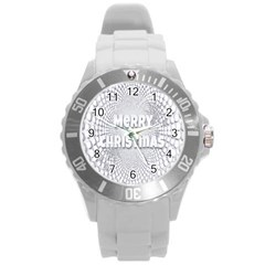 Oints Circle Christmas Merry Round Plastic Sport Watch (l)