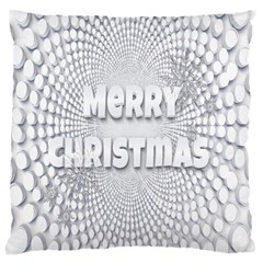 Oints Circle Christmas Merry Large Cushion Case (two Sides)