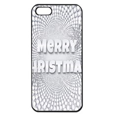 Oints Circle Christmas Merry Apple Iphone 5 Seamless Case (black)