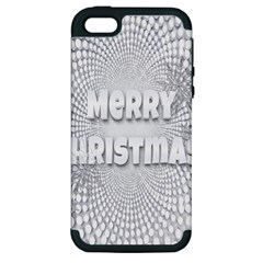 Oints Circle Christmas Merry Apple Iphone 5 Hardshell Case (pc+silicone)