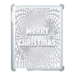 Oints Circle Christmas Merry Apple iPad 3/4 Case (White)