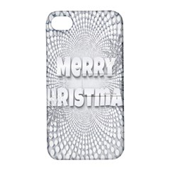 Oints Circle Christmas Merry Apple Iphone 4/4s Hardshell Case With Stand