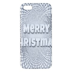 Oints Circle Christmas Merry Apple iPhone 5 Premium Hardshell Case