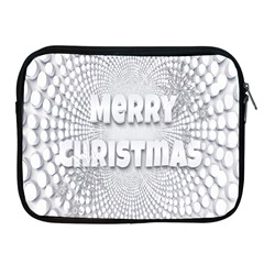 Oints Circle Christmas Merry Apple iPad 2/3/4 Zipper Cases