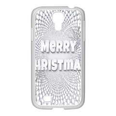 Oints Circle Christmas Merry Samsung GALAXY S4 I9500/ I9505 Case (White)