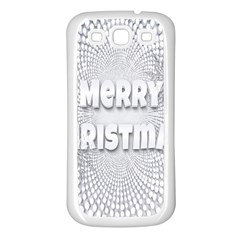 Oints Circle Christmas Merry Samsung Galaxy S3 Back Case (white)
