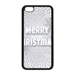 Oints Circle Christmas Merry Apple Iphone 5c Seamless Case (black)