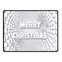 Oints Circle Christmas Merry Double Sided Fleece Blanket (Small)