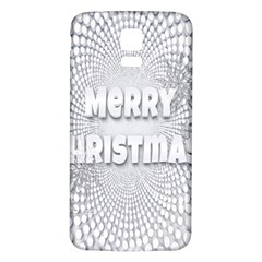 Oints Circle Christmas Merry Samsung Galaxy S5 Back Case (white)