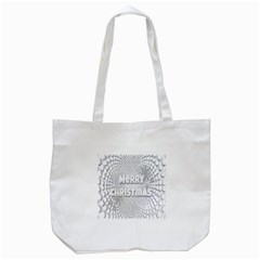 Oints Circle Christmas Merry Tote Bag (White)
