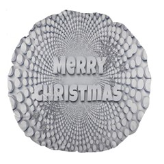 Oints Circle Christmas Merry Large 18  Premium Flano Round Cushions