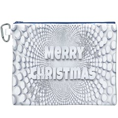 Oints Circle Christmas Merry Canvas Cosmetic Bag (xxxl)