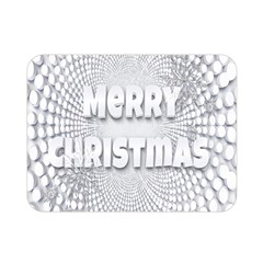 Oints Circle Christmas Merry Double Sided Flano Blanket (Mini)