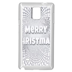 Oints Circle Christmas Merry Samsung Galaxy Note 4 Case (White)