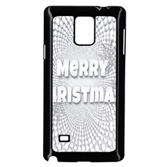 Oints Circle Christmas Merry Samsung Galaxy Note 4 Case (Black)