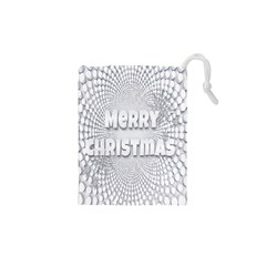 Oints Circle Christmas Merry Drawstring Pouches (XS)
