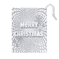 Oints Circle Christmas Merry Drawstring Pouches (Extra Large)