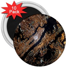 Night View 3  Magnets (10 pack)