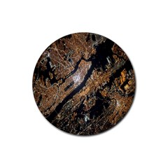 Night View Rubber Coaster (Round)