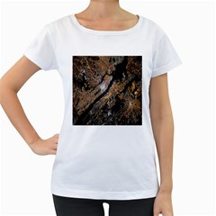 Night View Women s Loose-Fit T-Shirt (White)