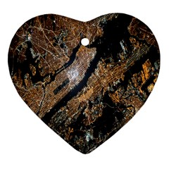 Night View Heart Ornament (Two Sides)